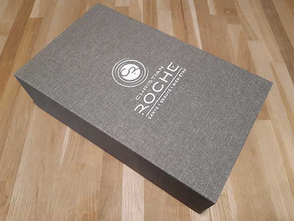 Boîte toile + logo blanc