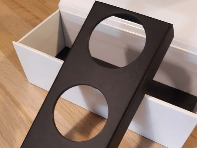 boîte avec calage carton